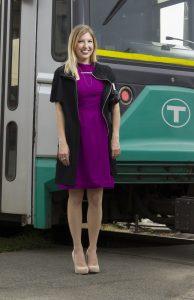 Boston Fashionista by a MBTA Green Line Car